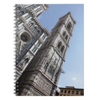 Giottoの鐘桜およびサンタマリアdel Fiore ノートブック