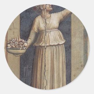 Giotto著慈善 ラウンドシール