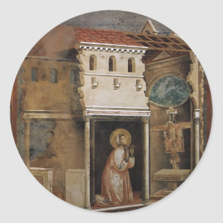 Giotto: 十字架像の奇跡 ラウンドシール
