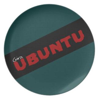 """Gira Ubuntu""のアフリカの哲学 プレート"