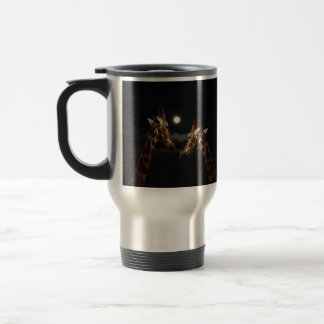 Giraffes_In月光の。_Travel_Coffee_Mug トラベルマグ