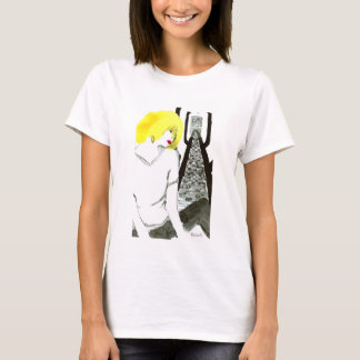 Girl of yellow hair tシャツ