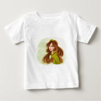Girl_with赤毛の幼児Tシャツ ベビーTシャツ