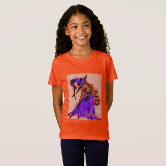 Girls Jersey Orange Tシャツ