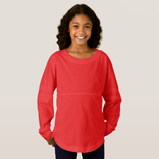 Girls' Spirit Jersey Shirt  9 color choices n size ジャージーTシャツ