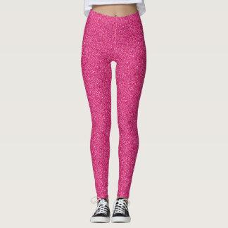 Girly Feminine Pink Confetti Dots Pattern Glitter レギンス