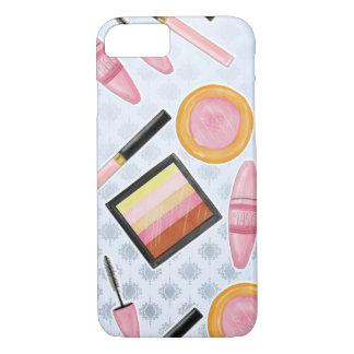 Girly Make Up Products Fashion Illustration iPhone 8/7ケース
