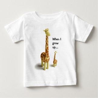 Girrafeおよびベビーのキリン ベビーTシャツ