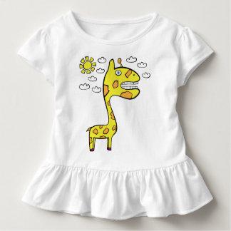 Girraffeyキリン-幼児のひだのティー トドラーTシャツ
