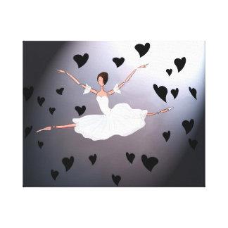 GISELLEの精神のダンス。 黒い嘆くバレエのキャンバス キャンバスプリント