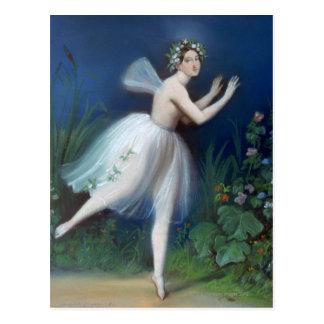 「GiselleのCarlotta Grisiのポートレート」 ポストカード