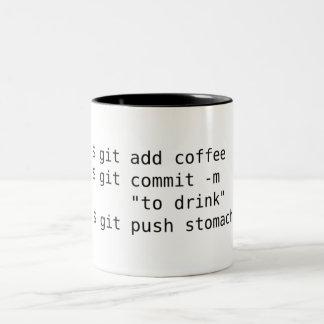 Gitはコーヒー・マグを加えます ツートーンマグカップ