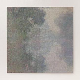 Givernyの朝の霧のセーヌ河 ジグソーパズル