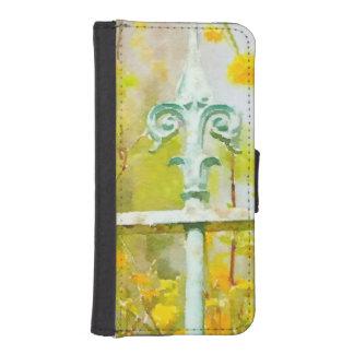 Givernyの(紋章の)フラ・ダ・リ iPhoneSE/5/5sウォレットケース