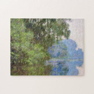 Givernyクロード・モネの近くのセーヌ河の朝 ジグソーパズル