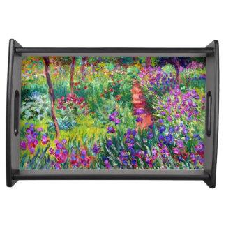 Giverny Monetのファインアートのアイリス庭 トレー
