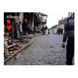 Gjirokastër、アルバニアの通り ポストカード