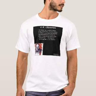 GK Chesterton及び開始本ライン Tシャツ