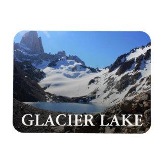 glacier湖の近い山Fitzローイ マグネット