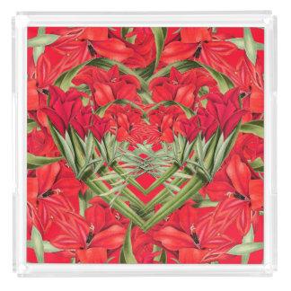 Gladiolasのハートによっては花のトレイが開花します アクリルトレー