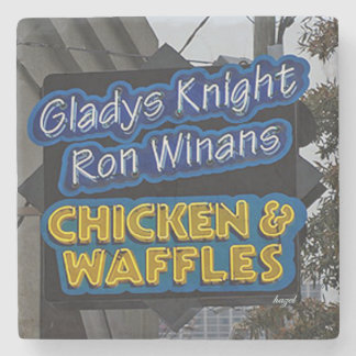 Gladysの騎士鶏及びワッフルのアトランタのコースター ストーンコースター
