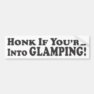Glampingにあなたは警笛を鳴らして下さい! -バンパーステッカー バンパーステッカー