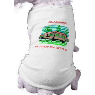 GLAMPINGの~のキャンプの~によってはキャンピングカーの~ペットワイシャツが現れます! ペット服