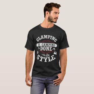 GlampingはスタイルのおもしろTシャツによってできているキャンプです Tシャツ