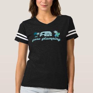 Glamping行ったRVのキャンプの女性のTシャツ Tシャツ