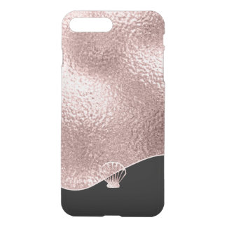 Glass Seashell Rose Gold ID363 iPhone 8 Plus/7 Plus ケース