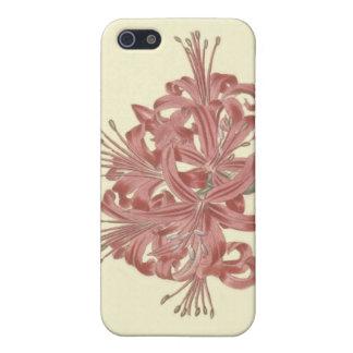 Glaucous Leavedアマリリスの植物の絵 iPhone 5 Cover