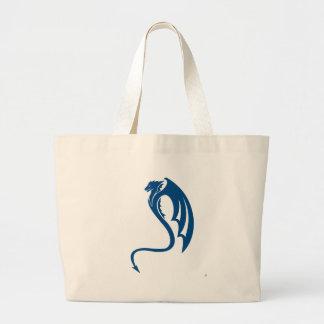 Glaurung青いドラゴン ラージトートバッグ