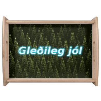Gleðileg Jól -針葉樹 トレー