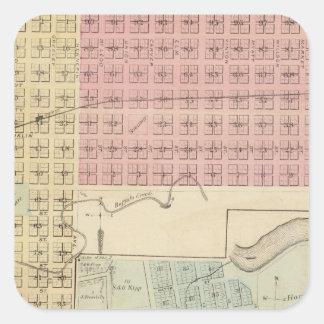Glencoeの地図、Henderson、ミネソタの地図 スクエアシール