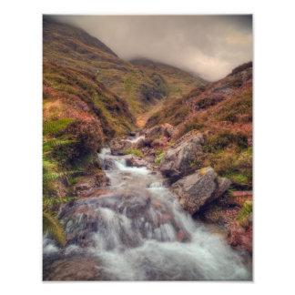 Glencoe山の流れ フォトプリント
