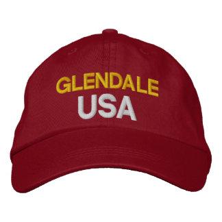 Glendale米国の帽子 刺繍入りキャップ