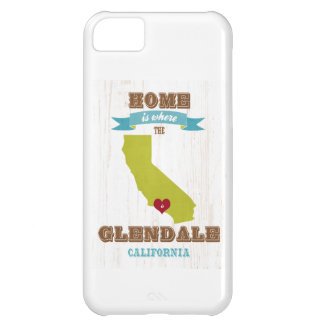 Glendale、カリフォルニアの地図-どこであります家 iPhone5Cケース