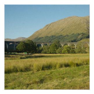 Glenfinnanの陸橋スコットランド ポスター