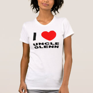 Glenn Fitted Tank女性Iハートの叔父さん Tシャツ
