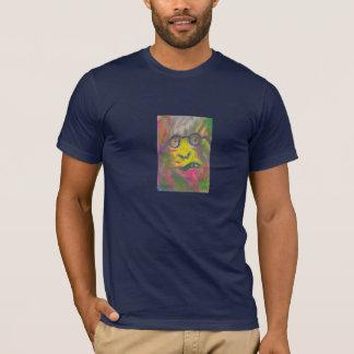 Glenn Goss著ファンキーなガラスのファッションT Tシャツ