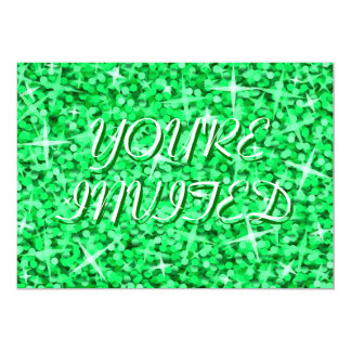 "Glittzの緑の「招待されましたの""セントパトリックの日 カード"