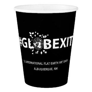 #GLOBEXITの黒い紙コップ 紙コップ