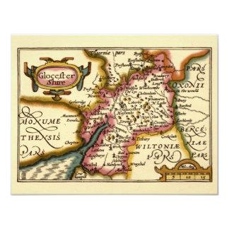 """Glocestershire"" Gloucestershire郡地図 カード"