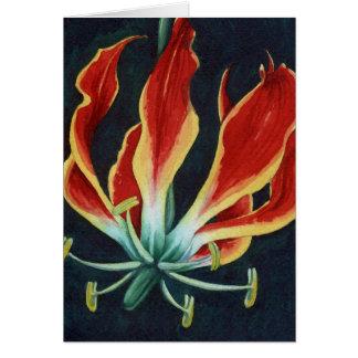 Gloriosa見事なLillyの水彩画 グリーティングカード
