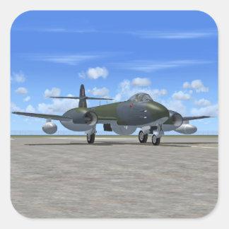 Glosterの流星のジェット戦闘機の飛行機 スクエアシール