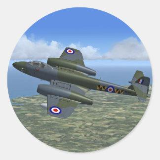 Glosterの流星のジェット戦闘機の飛行機 ラウンドシール