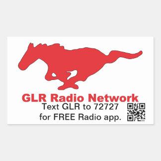 GLRの無線ネットワークのステッカー 長方形シール