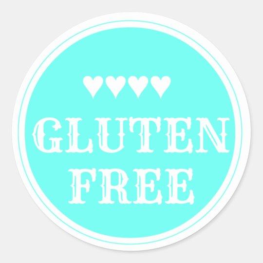 Gluten Free sticker ラウンドシール
