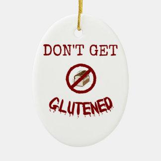 Glutenedを得ないで下さい セラミックオーナメント