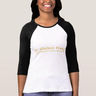 """""""Gluteusは自由な""""女性の長袖のティー行きます Tシャツ"""